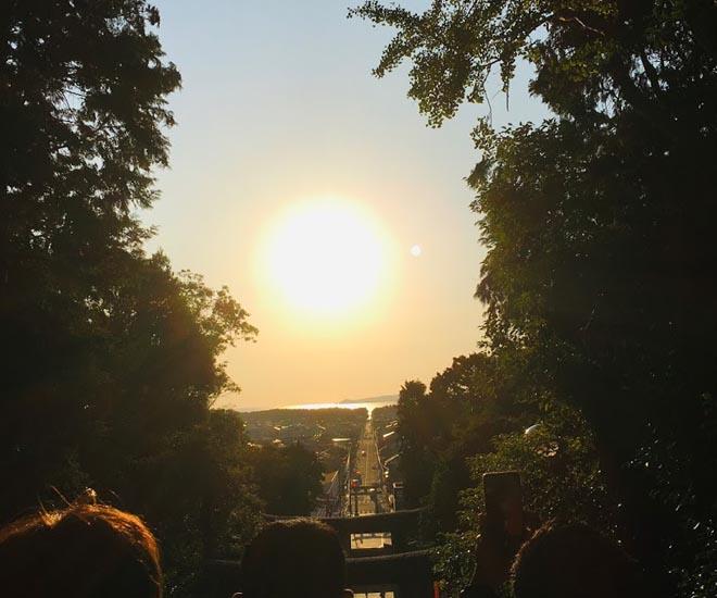 2019年宮地嶽神社 光の道1