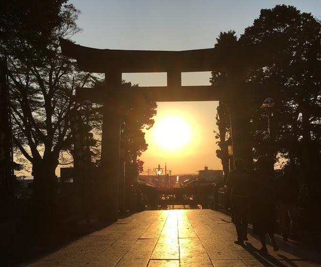 2019年宮地嶽神社 光の道2