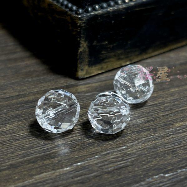 水晶 AAA(3A)64面カット 8mm丸玉 穴あり 1粒売り バラ売り 天然石 パワーストーン