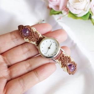 マクラメ 時計