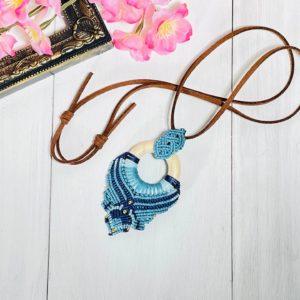 マクラメ編み 木製リング ネックレスパワーストーン 通販